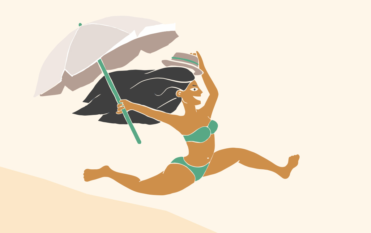 negoti-journees-plage-illustration-personnage