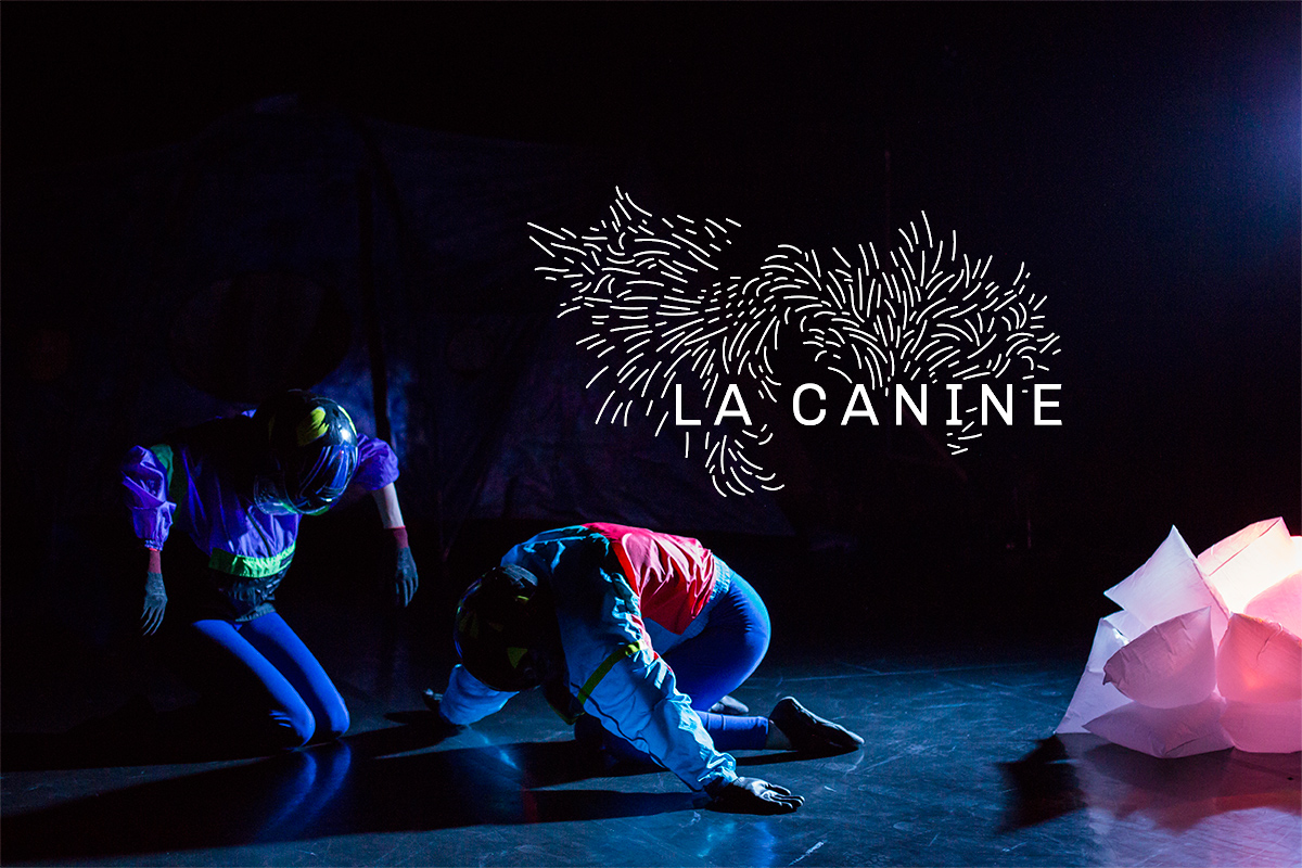 Logo dessiné pour la compagnie La Canine