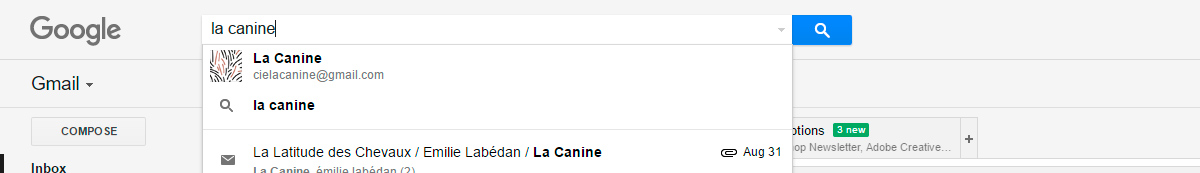 L'identité déclinée sur la photo de profil de Gmail