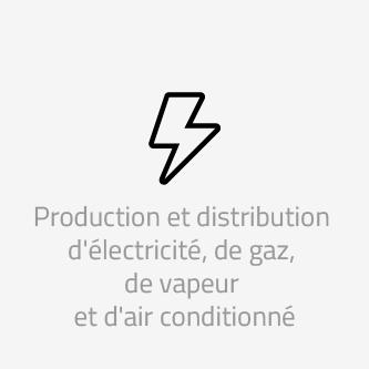 Production et distribution d'électricité, de gaz, de vapeur et d'air conditionné