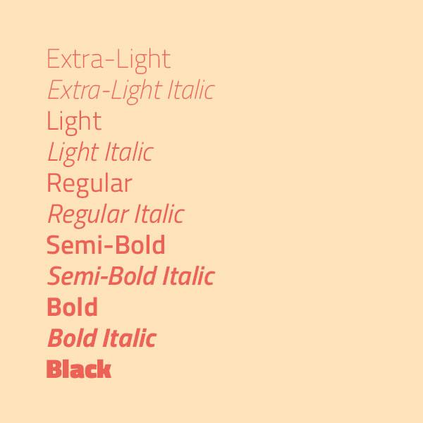 Titillium Web : typographie avec une large palette de style