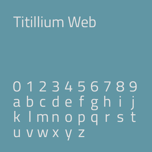 Titillium Web : typographie épurée et technologique