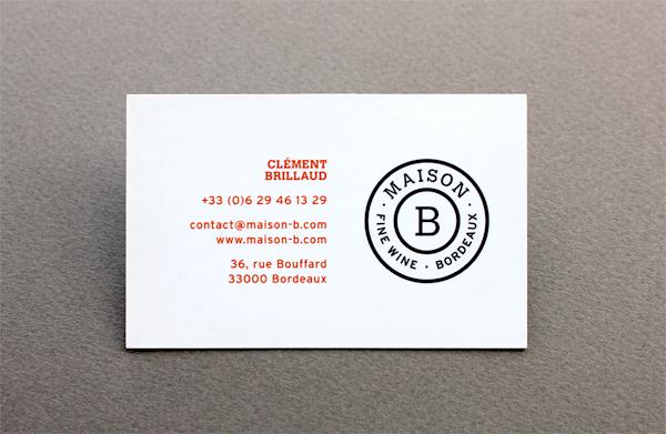 Cartes De Visite Maison B Verso