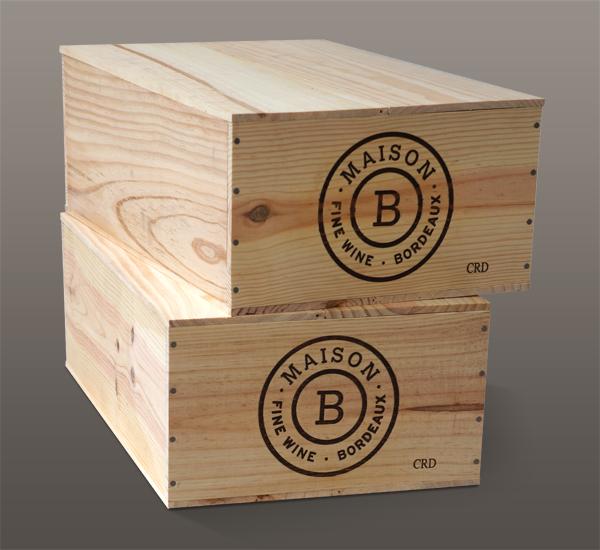 Caisses de vin Maison B