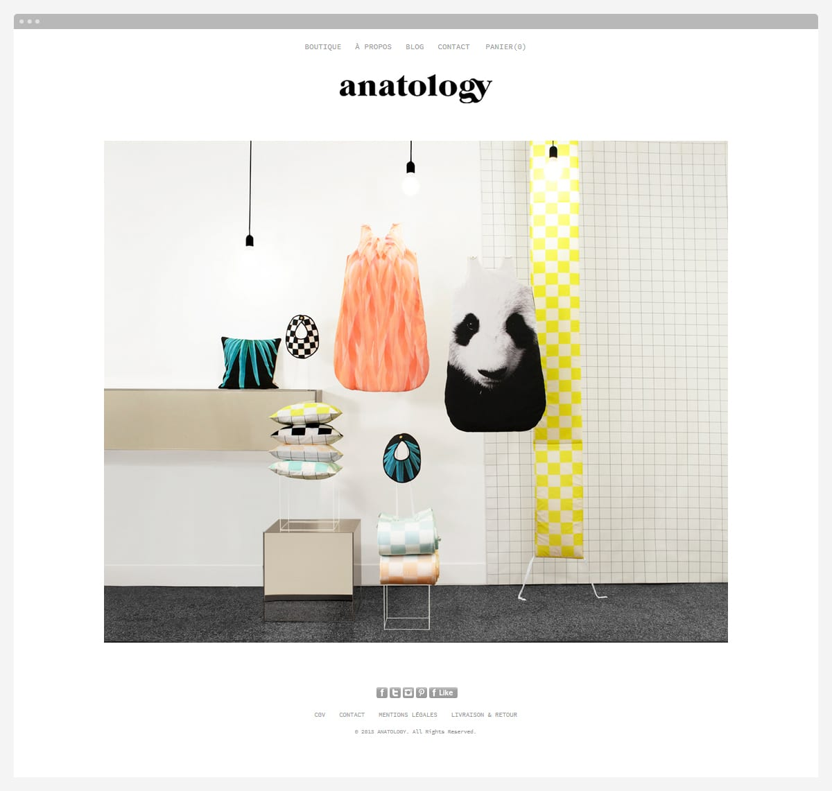 Anatology site Internet page d'accueil