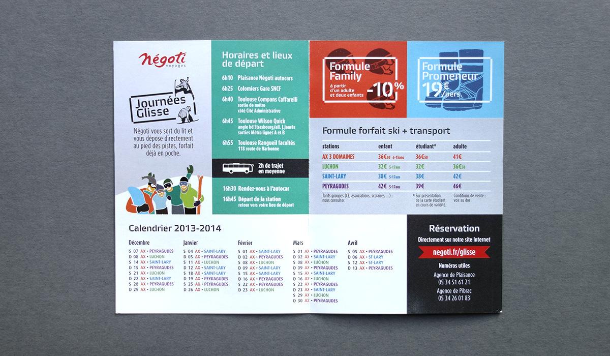 Double page intérieure du flyer des Journées Glisse - Yves Saint-Lary