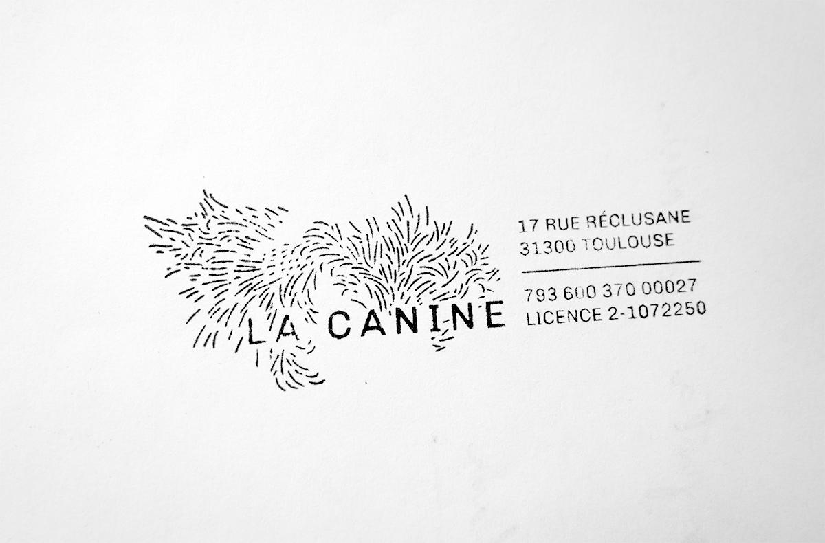 Tampon de la compagnie La Canine
