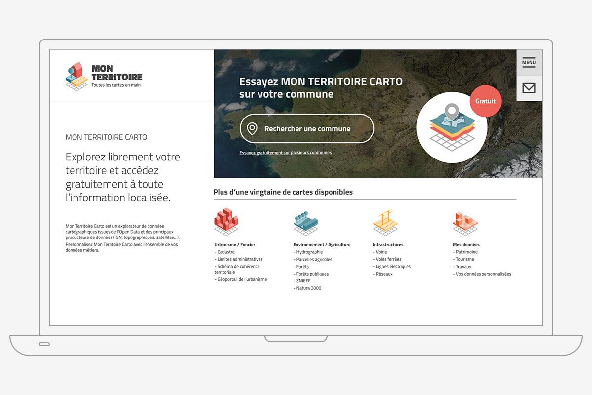 Capture d'écran du site Internet monterritoire.net
