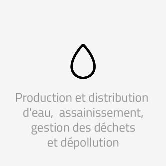 Production et distribution d'eau, d'assainissement, gestion des déchets et dépollution