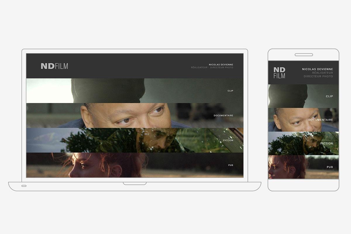 Portfolio mobile pour un réalisateur – directeur photo