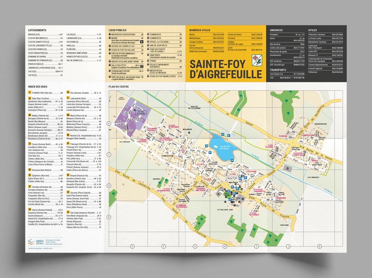 Plan de ville pour Sainte-Foy d'Aigrefeuille